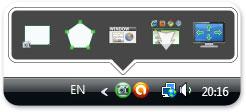 иконка программы для создания скриншотов DuckCapture в трее операционной системы Windows Vista