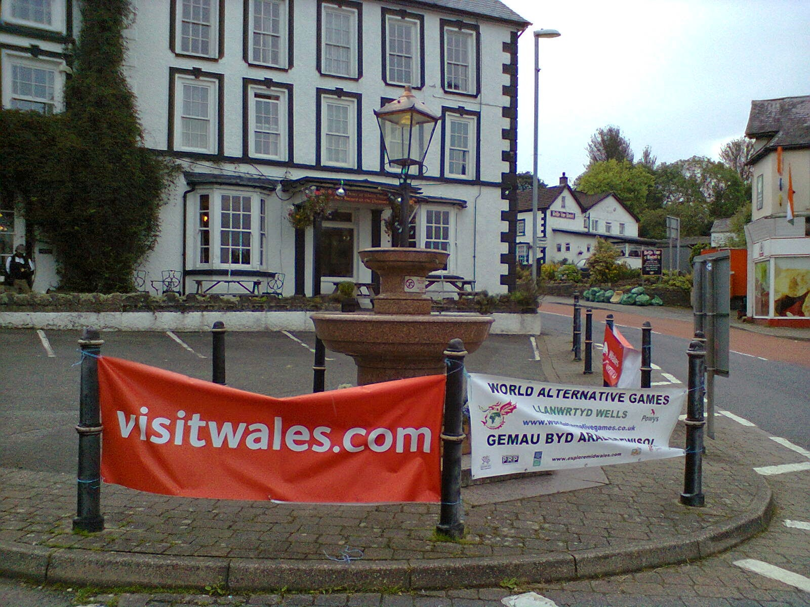 Hide N Seek in Llanwrtyd Wells - can you spot me and Emily in this photo in the town centre?