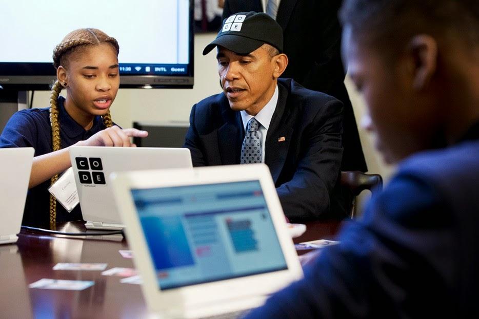Obama programando