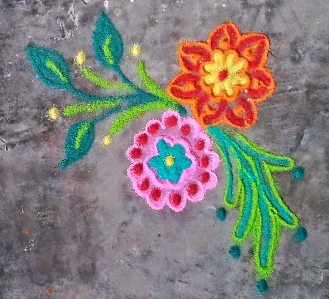 Kids Rangoli Designs 22