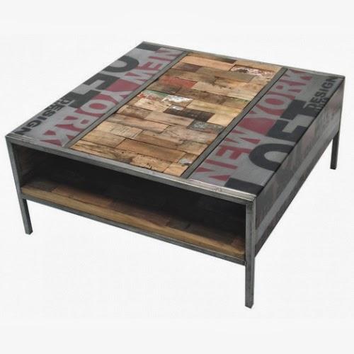 Atelier industrial mesas estilo industrial for Mesa centro industrial