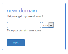 choose new domain name bluehost