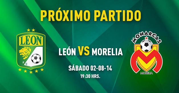 Trasmision en vivo León vs Morelia Futbol mexicano apertura 2014 jornada 3