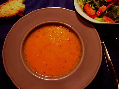 Sopa de pimiento calabaza y patata