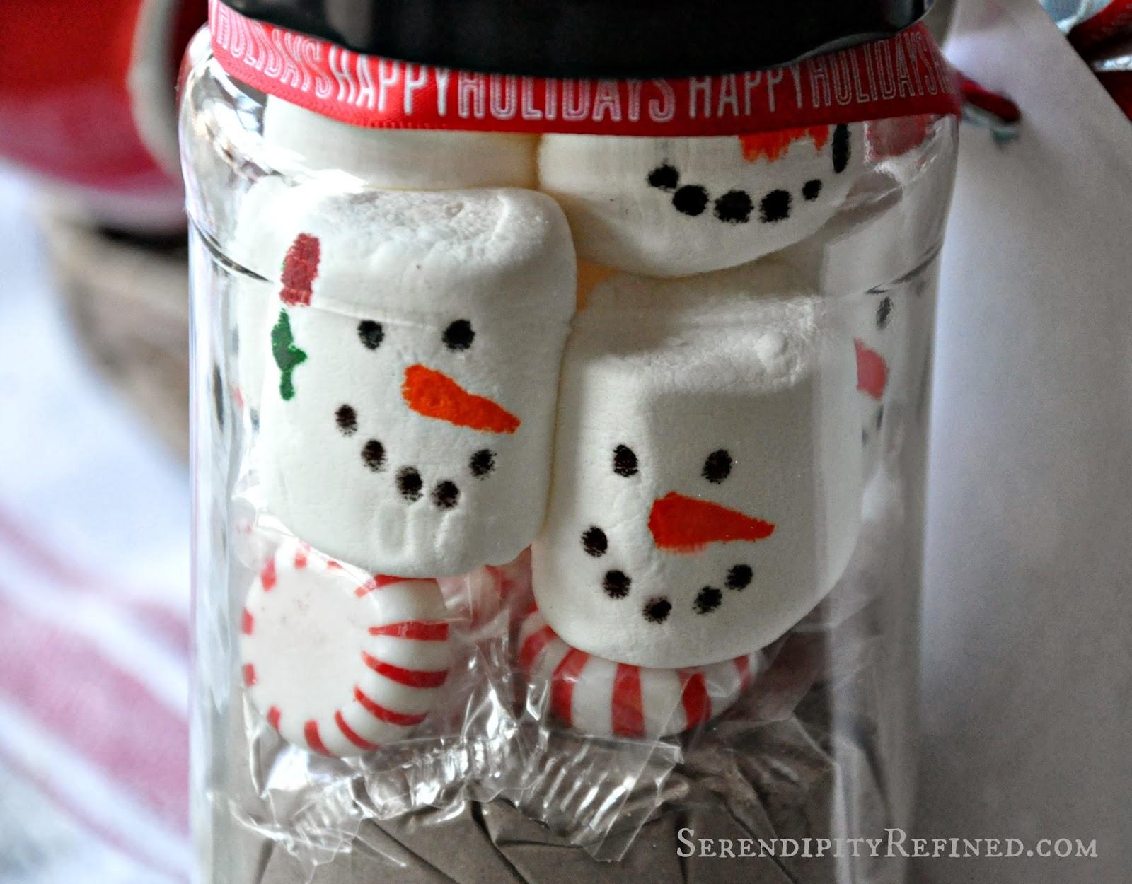 Serendipity Refined Blog: Christmas Mason Jar Hot Cocoa Gift and ...