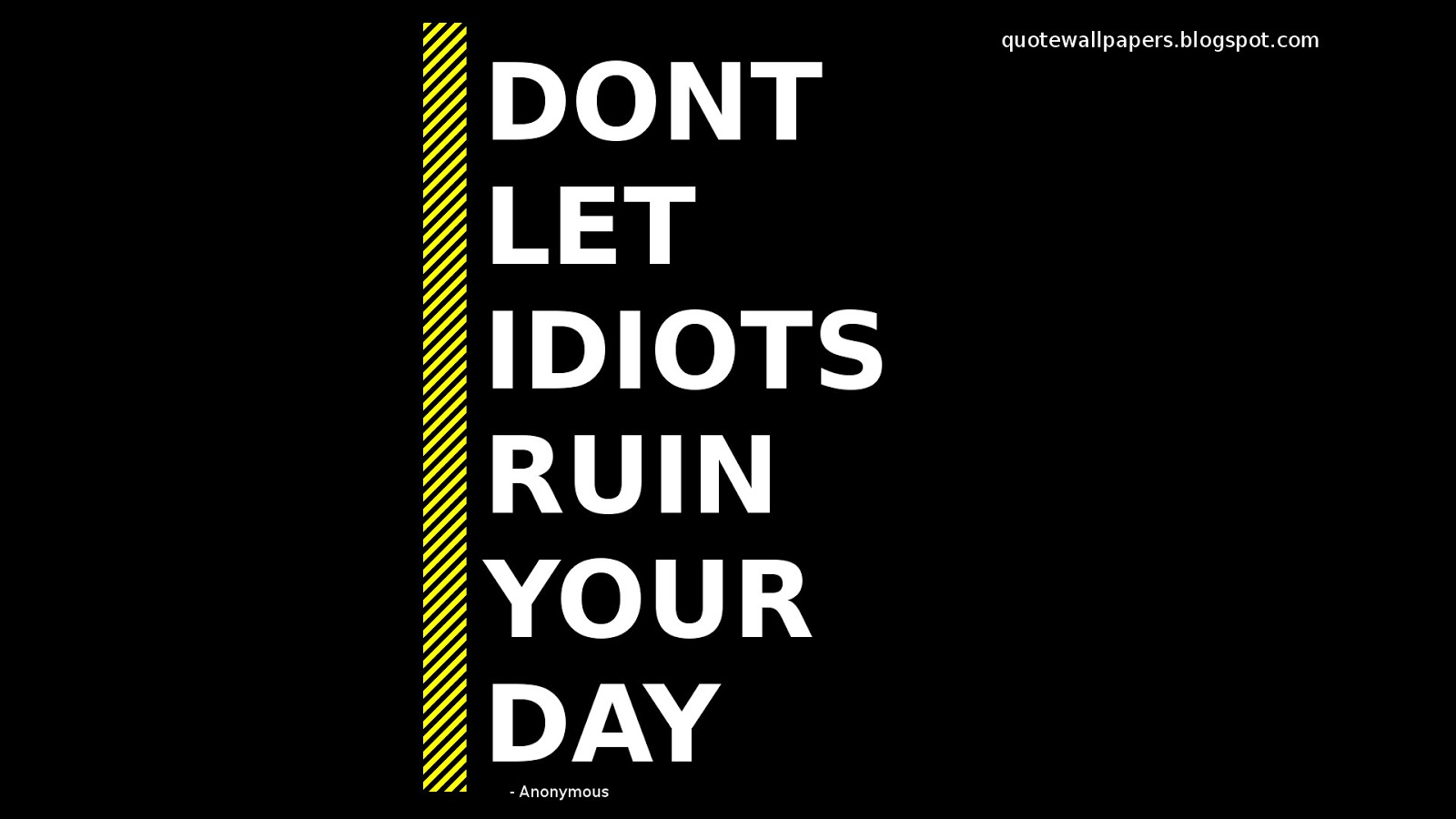 Dont Let Idiots Ruin Your Day  Attitude Quotes
