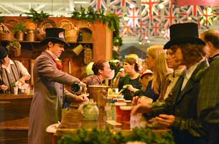 Authentic English pubs at the Great Dickens Christmas Fair and Victorian Holiday Party