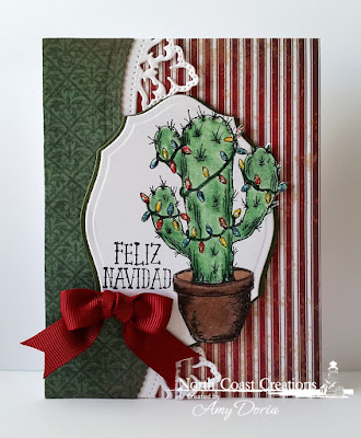 North Coast Creations Stamp set: Cactus Lights, Our Daily Bread Designs Custom Dies: Leafy Edged Borders, Elegant Ovals, Our Daily Bread Designs Paper Collections: Christmas 2013