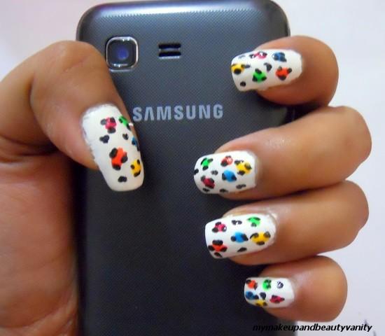 leopard print nail art+nail art tutorial