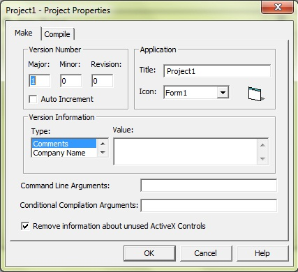 edit the project properties