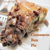 Cinnamon Bun Pie...oh so good!