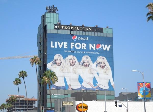 Beyoncé Pepsi Live For Now billboard