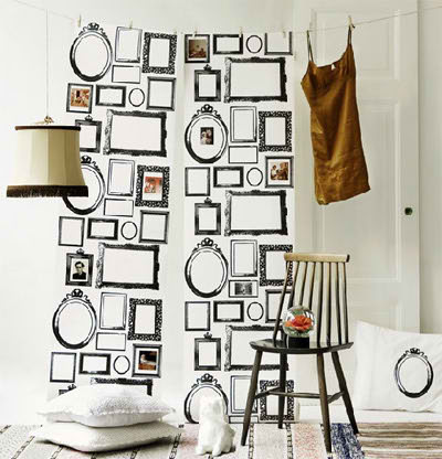 Neo arquitecturaymas: Decorar paredes con marcos vacíos