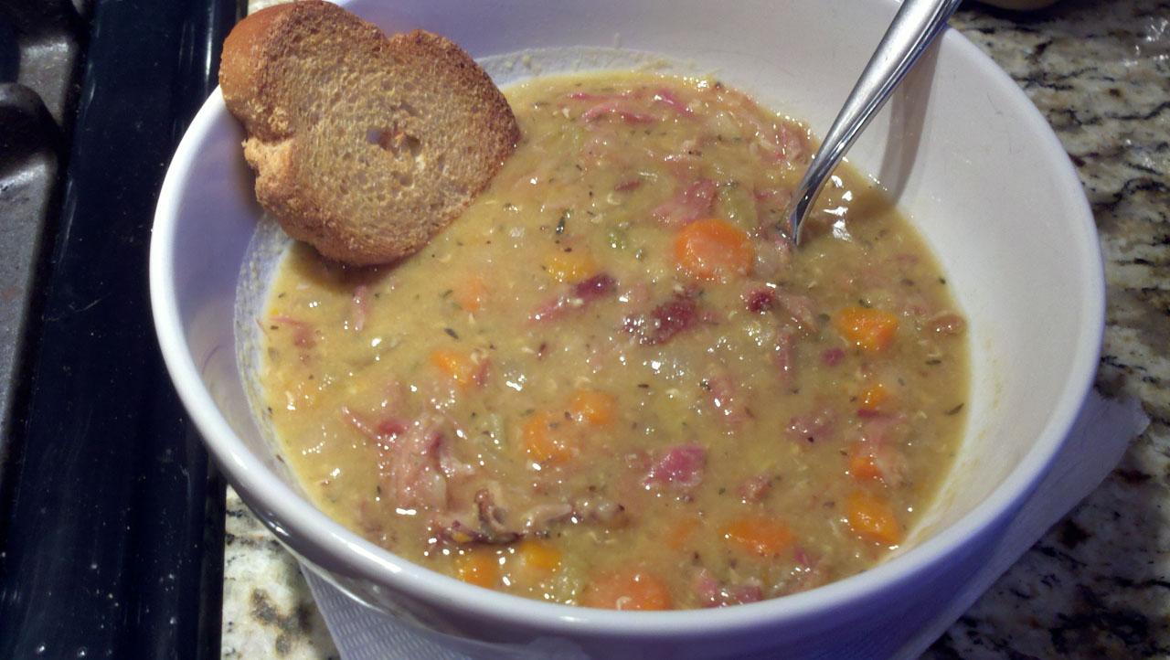 The Crock Pot Diet: Ham and Lentil Soup