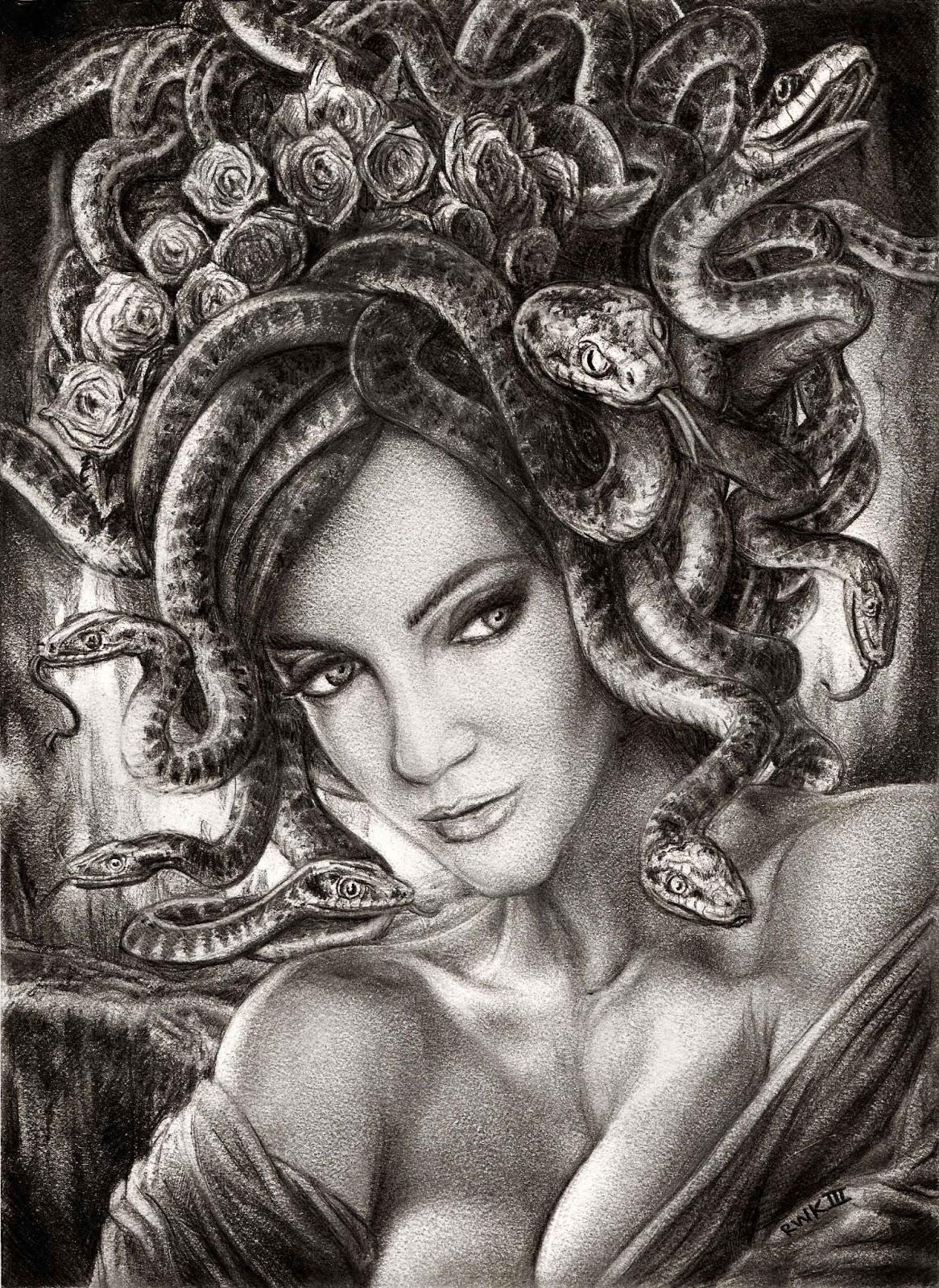 Beautiful Medusa Drawing Www Imgkid Com The Image Kid