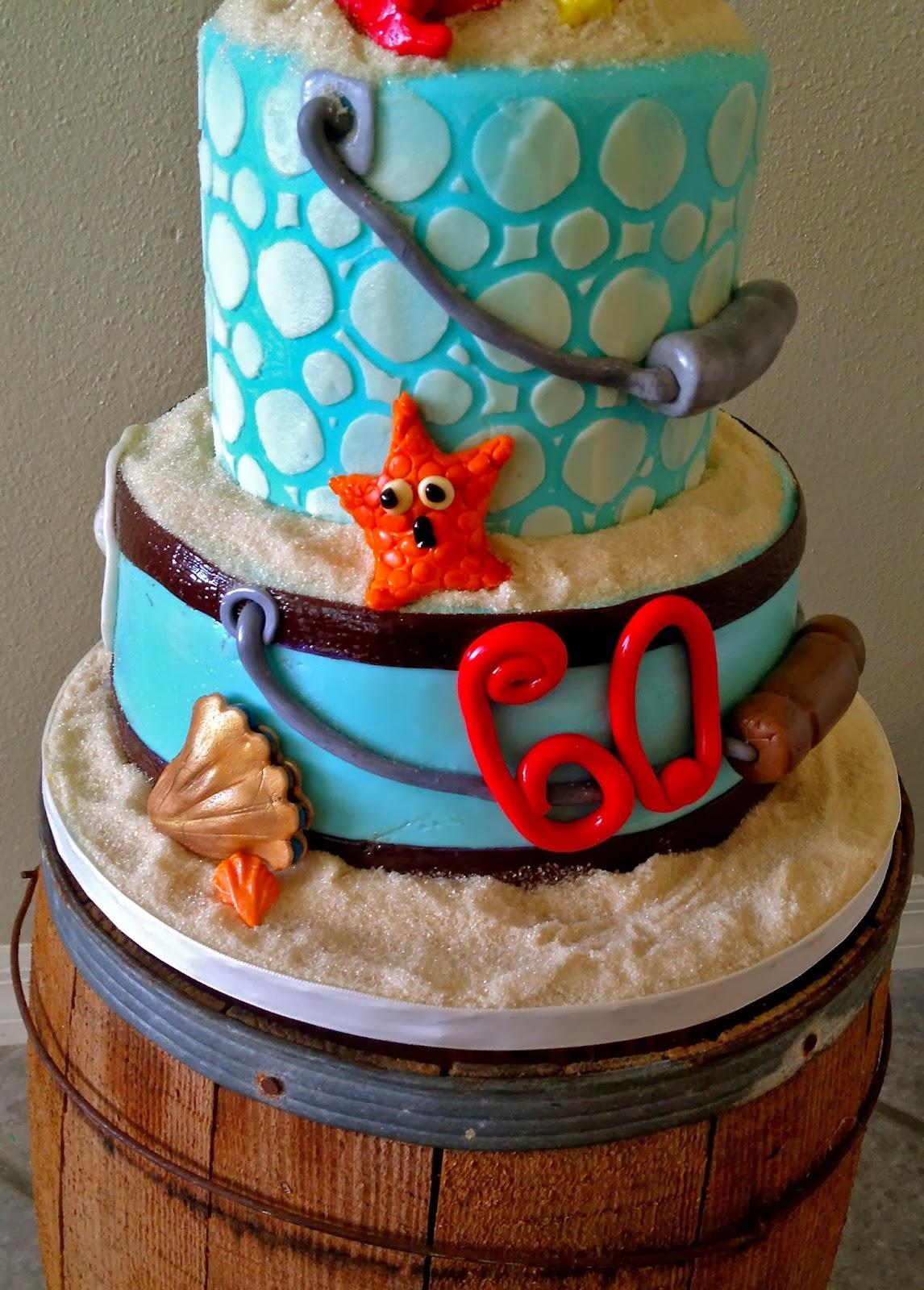 Sweet Ts Cake Design Beach Themed Sand Bucket Birthday Cake