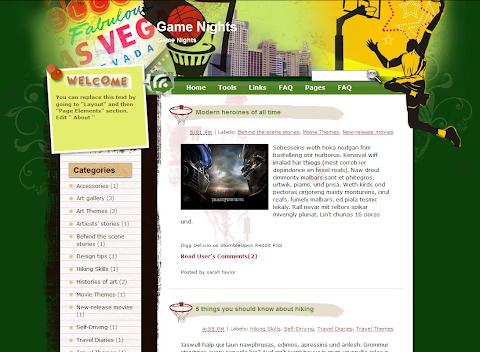 Game Nights Blogger Theme