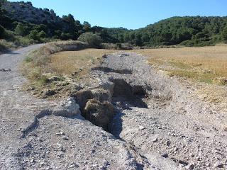 campo camino Barranco de las Lenas María de Huerva