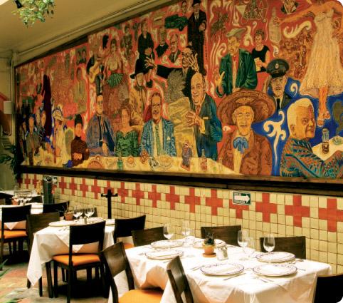Entre la copa y el plato for El mural de los poblanos