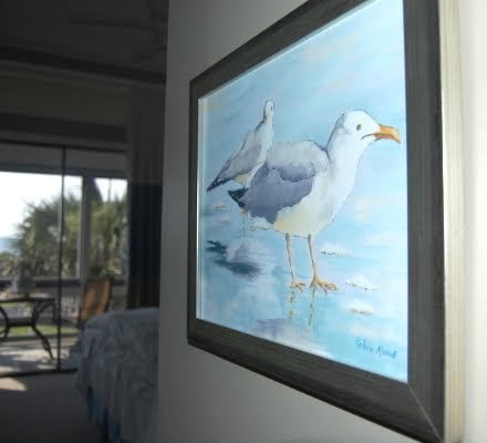 original Seagulls painting by Robin Rowe