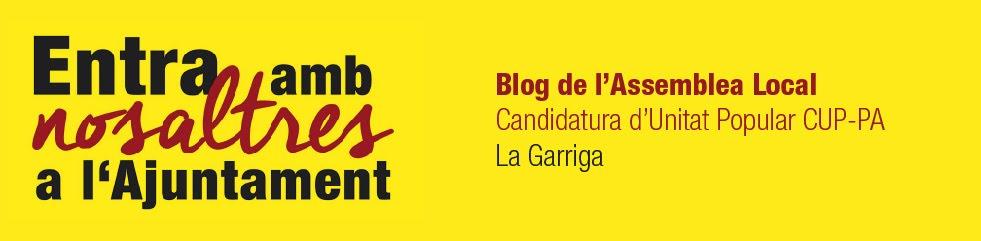 Entra amb nosaltres a l'Ajuntament - Diari de campanya de la CUP La Garriga