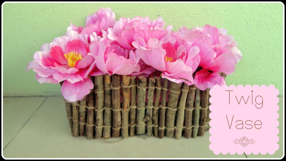 Rustic Twig Vase