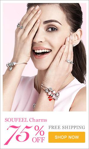 Женские украшения, браслеты, шармы из серебра и золота