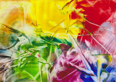 RAINBOW COLOR ART ENCAUSTIC SANDRA ILLING