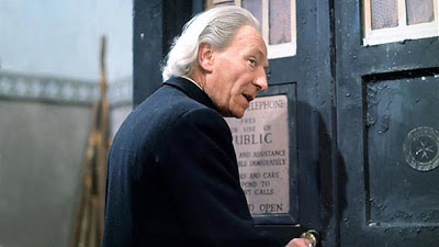 William Hartnell as The Doctor entering the TARDIS