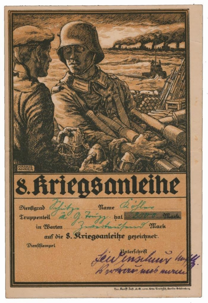 German World War I loan design by Hanns Anker