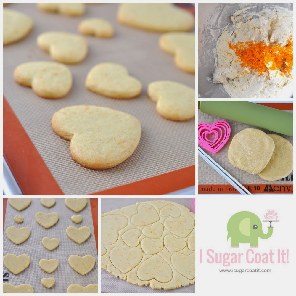 Orange Cardamom Cookie Postcards