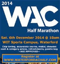 Waterford Half-Marathon...Sat 6th Dec 2014