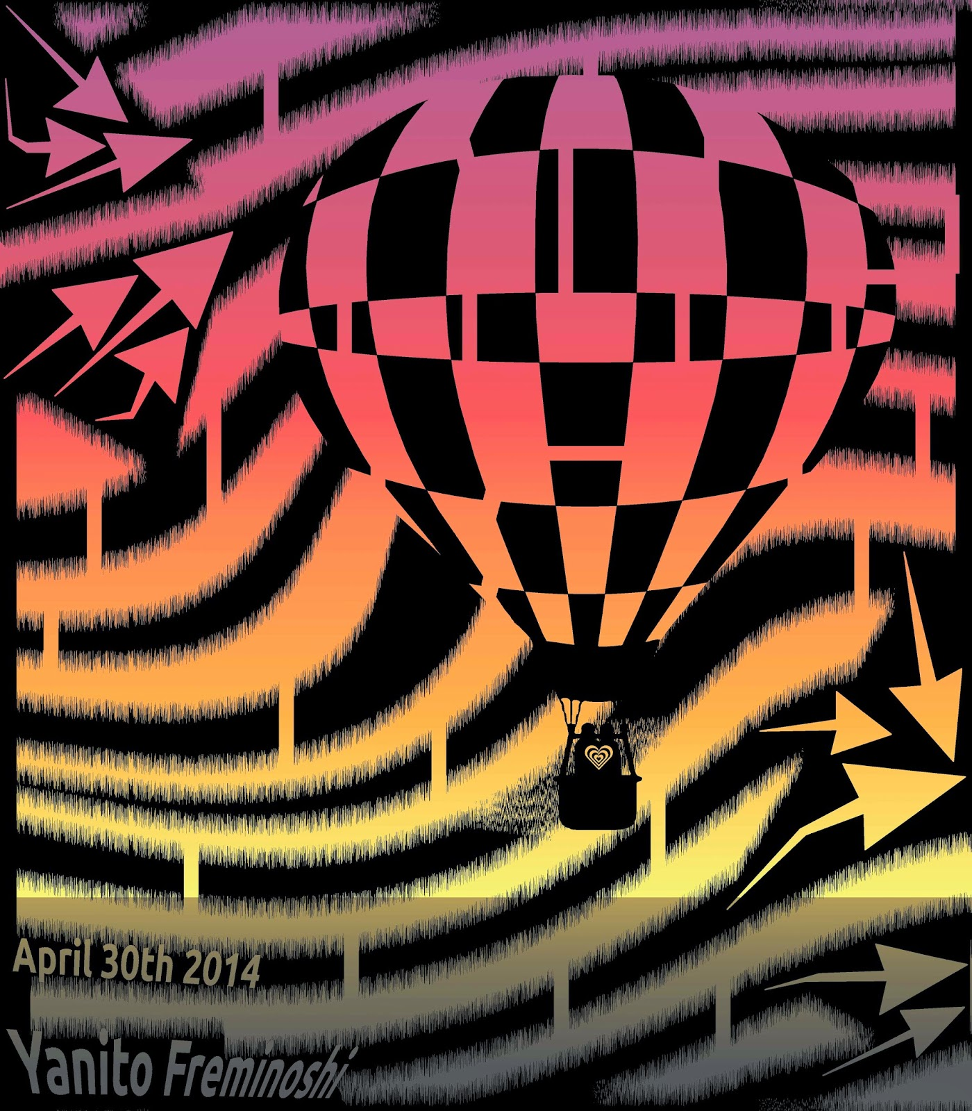 Maze of hot air balloon sunrise