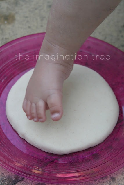 Salt dough footprint keepsakes the imagination tree a firm straight down impression and then lift straight off again works really well if it gets messed up the great thing is that you can reform it and try solutioingenieria Gallery