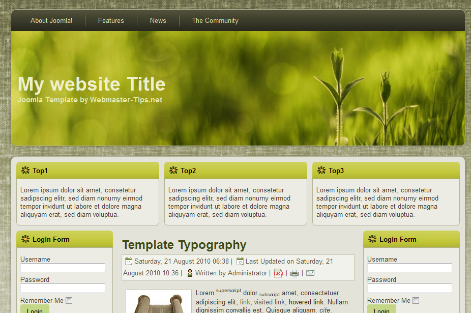 joomla org templates - joomla template download free 1 5