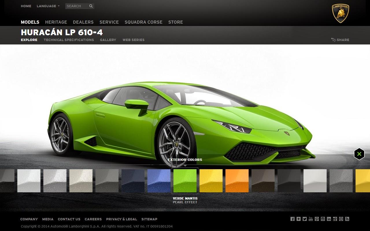 lamborghini huracan online configuration supercars show. Black Bedroom Furniture Sets. Home Design Ideas