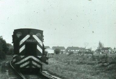 MOD Hunslet on Bedenham freight 1977