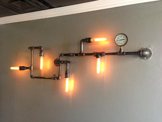 My Knick Knack Decors  Steampunk Gas Pipe Light