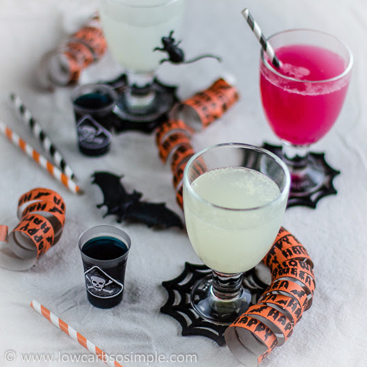halloween drink, changing colour drink, witches brew, low carb halloween drink, healthy halloween drink, party cocktail, party fun drink