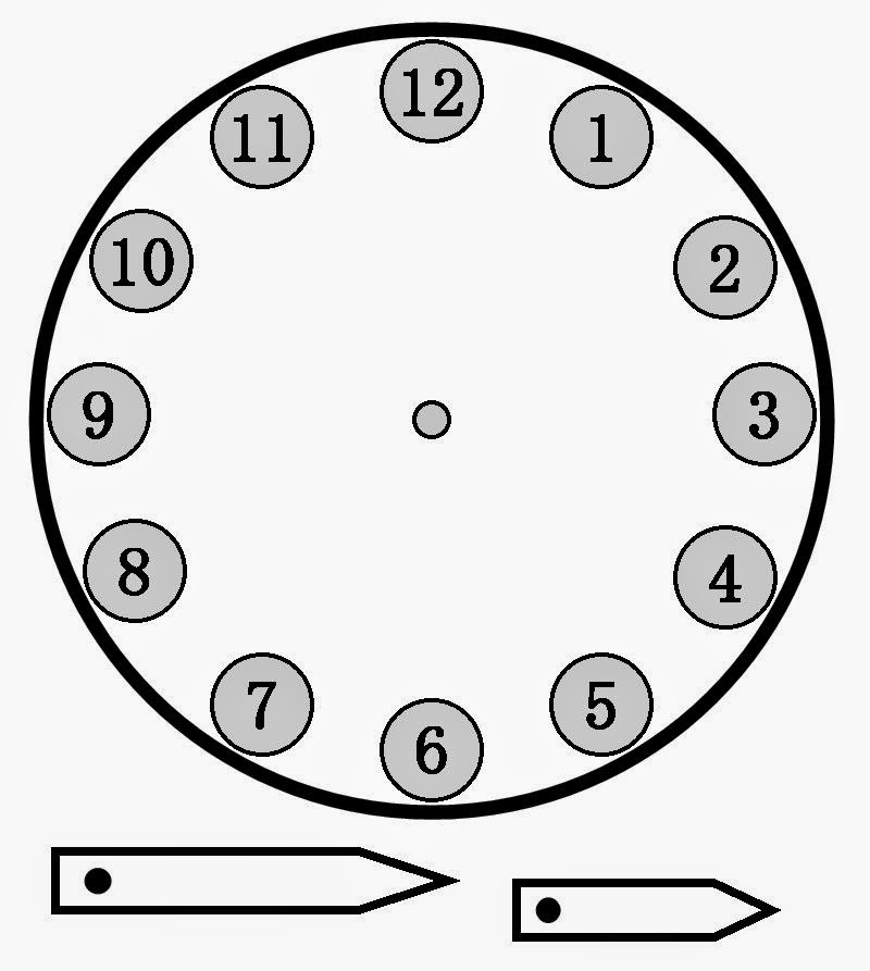 2 tramo m jes s abril 2014 - Dibujos de relojes para imprimir ...