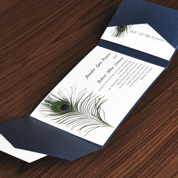 Peacock Wedding Invitations Kit as awesome invitations example
