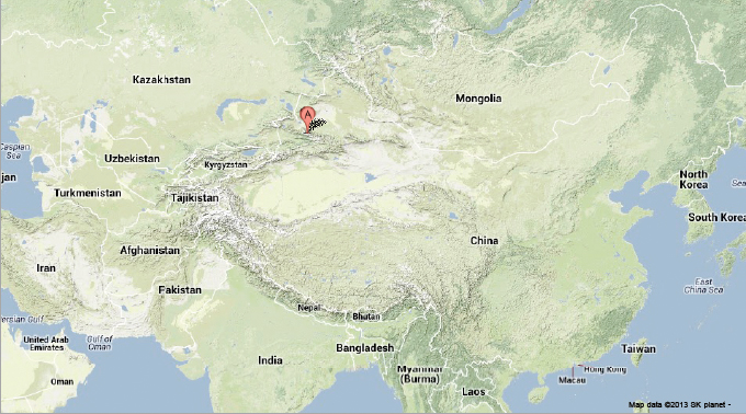 Tian Shan Mountains Map | Clubmotorseattle