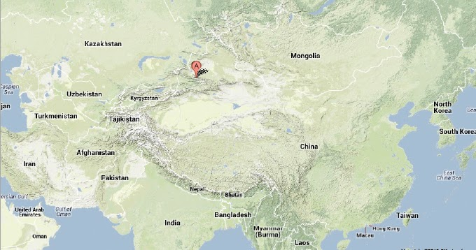 Tien Shan Mountains On Map