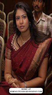 Aunty Actress Sanghavi in Saree