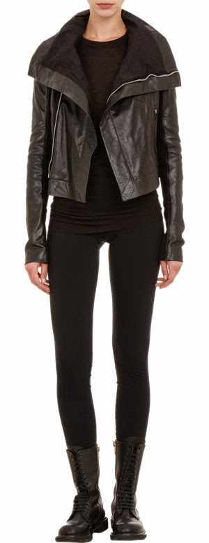 Rick Owens Calfskin Biker Jacket - the perfect black leather piece