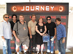 The boys of Journey, with Pete and I, August 28, 2011.