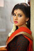 Archana veda in red saree photos-thumbnail-17