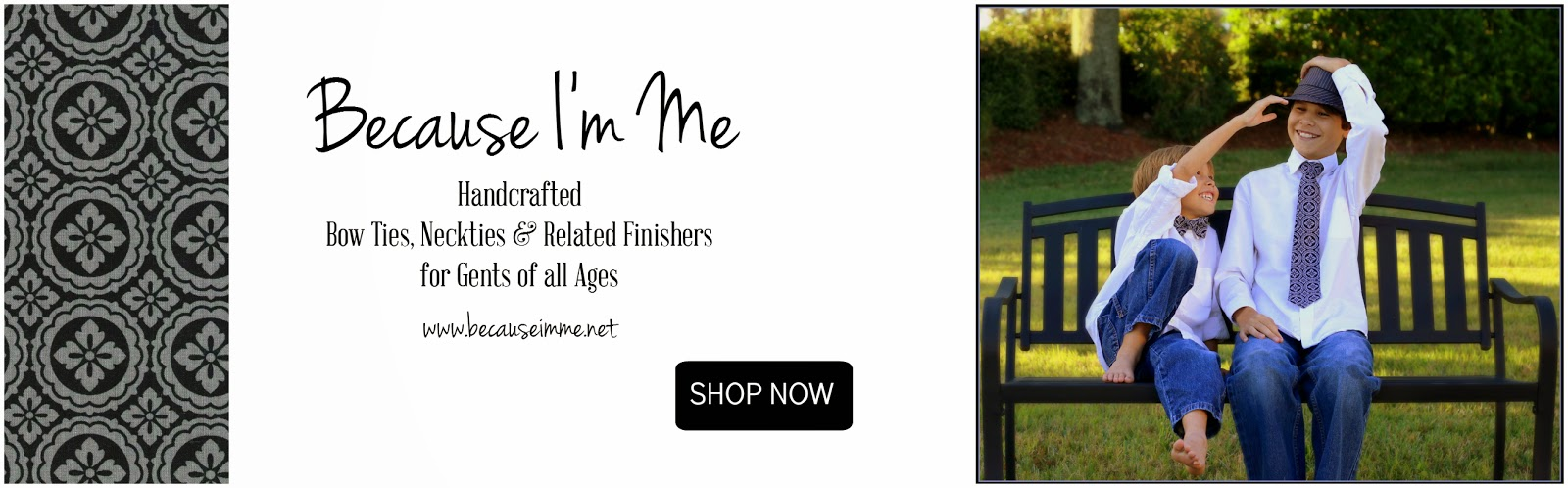 Because I'm Me bow tie, necktie pocket square suspenders boys mens teen infant toddler cotton
