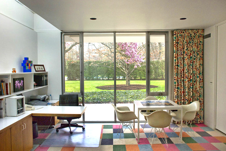 Girard Drapes And Eames Chairs Decorate Xenias Office Originally The