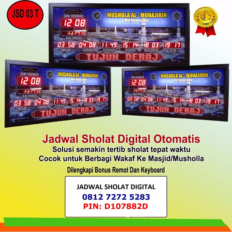 Toko Jam Jadwal Sholat Digital Lampung